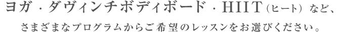 ヨガ・ダヴィンチボディボード・hiit(ヒート)